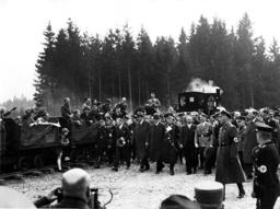 Hitler at Motorway building site in Unterhaching