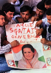 INDIA-SONIA SUPPORTERS