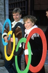 BBC TV COVERAGE OF THE WINTER OLYMPIC GAMES - PHOTOCALL FOR TORVILL AND DEAN