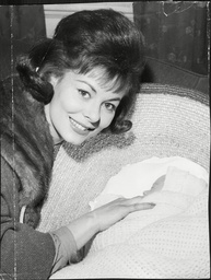 Actress Anne Heywood With Her Newborn Son Mark Stross Son Of Film Producer Raymond Stross.