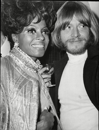 Dianan Ross Singer With Brian Jones Of The Rolling Stones Pop Group 1968.