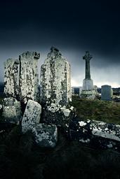 Stormy graveyard