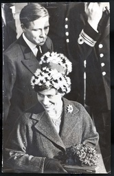 In London Yesterday Princess Margaret Went To Visit The New Zealand Frigate Otago With Her Husband Mr Antony Armstrong-jones. Two Years Ago She Launched It At Southampton. The Couple Were Greeted By 14 Maoris In Traditional - And Rather Chilly - Dres