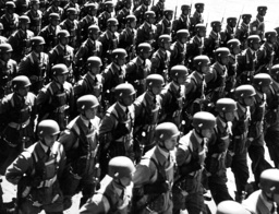 Parade of paratroopers in Berlin