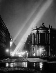 'Cathedral of Light' over the street 'Unter den Linden' in Berlin, 1939