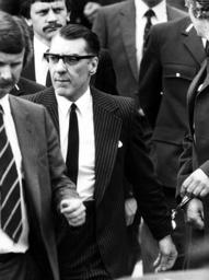 Ronnie Kray at his mother's funeral