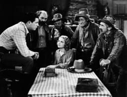 DANGER VALLEY, from left: Jack Randall, Hal Price, Jimmy Aubrey, Lois Wilde, Ernie Adams, Earle Dwir