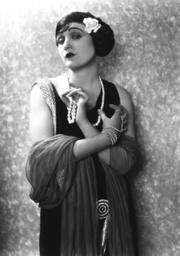 Silent movie actress Claire de Lorez, 1924