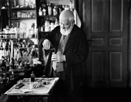 Wilhelm Ostwald in His Lab, 1931