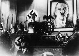 Ribbentrop spricht in Danzig 1938 - Ribbentrop speaking in Danzig 1938 -