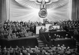 Adolf Hitler makes a speech in the Reichstag, 1939
