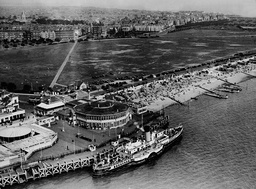 Aerial View Of Clarence Pier At Southsea Hampshire England In 1936.