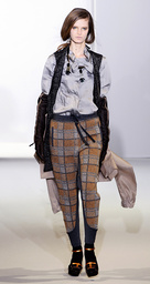 A model presents a creation as part of Marni Fall/Winter 2009/10 women's collection during Milan Fashion Week March