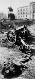 2.WK./Königsberg/nach den Kämpfen,Leiche - WW2/Koenigsberg/Corpse. -