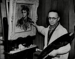 Alfred Wolmark Artist In His Hampstead Studio.