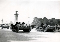 Bastille Day Celebrations In Paris In 1936. The President Attended The Great Military Parade At The Invalids Esplanade.