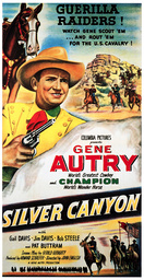SILVER CANYON, Gene Autry, 1951
