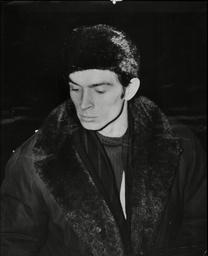 Rudolph Nureyev Ballet Dancer In Fur Winter Clothes 1962.