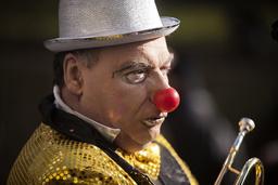 France. Paris. Portrait of a clown during Paris carnival
