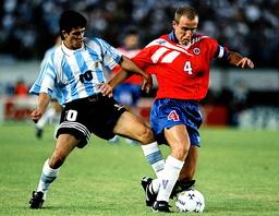FILE PHOTO OF ARGENTINA SOCCER PLAYER ORTEGA IN ACTION