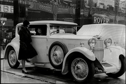 The Sunbeam Car At The 1930's Motor Show.