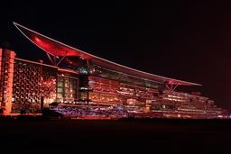 29 03 2014 Dubai UAE VEREINIGTE ARABISCHE EMIRATE Meydan grandstand at opening ceremony Meydan