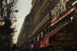 France. Paris (9th district). Grand Café Capucines on the Boulevard des Capucines