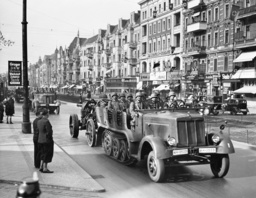 Soldiers of the Artillery Regiment 59 during the parade on the birthday of Adolf Hitler, 1938