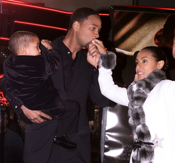 ACTOR WILL SMITH AND WIFE AT PREMIERE IN HOLLYWOOD