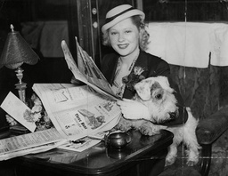 Actress Mary Carlisle Aboard The Boat Train In Which She Left London En Route For Hollywood After Completing Her Part In 'love In Exile' A New British Film. Box 739 81603173 A.jpg.