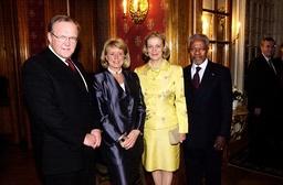 FN:s generalsekreterare Kofi Annan på besök i Stockholm.