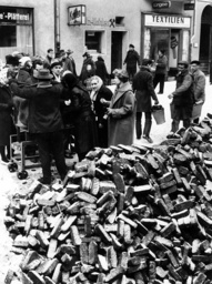 Coal sale on the street in Berlin-Charlottenburg