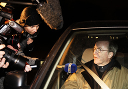 Belgium's former prime minister Martens leaves the Royal Palace in Brussels