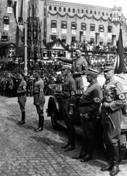 Hitler, Hess, Lutze, Goering at Party Congress in 1936