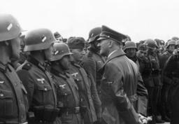 Adolf Hitler visits soldiers in Warsaw, 1939