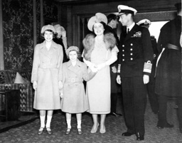 British royal family on board of the 'Empress of Britain', 1939