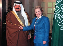 ALBRIGHT MEETS SAUDI PRINCE SULTAN