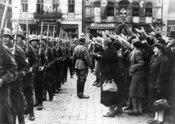 Return of the German troops from the Polish Campaign, 1939