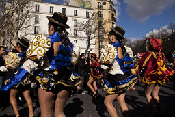 France. Paris (75). Parade in streets for Paris carnival