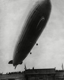 Graf Zeppelin Flying Over Wembley Stadium During The Fa Cup Final 1937.