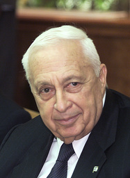 ISRAELI PRIME MINISTER ARIEL SHARON ATTENDS THE WEEKLY CABINET MEETING IN JERUSALEM
