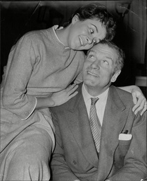 Actor Laurence Olivier With Actress Joan Plowright Who Later Became His 3rd Wife.