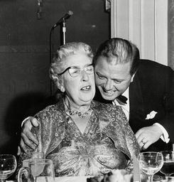 Agatha Christie And Richard Attenborough - 1962