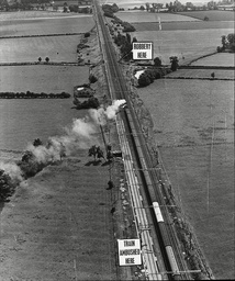 Law Crime Robbery 1963 'great Train Robbery' Showing Aerial View Of Where The Train Was Robbed From The Sears Crossing To Cheddington The Great Train Robbery Is The Name Given To A 2.6 Million Train Robbery (the Equivalent Of Around 40 Million Toda