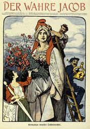 Germanias Techtelmechtel 1903 / Wahr.J. - Germania's Flirtation 1903 / Wahr.Jacob -