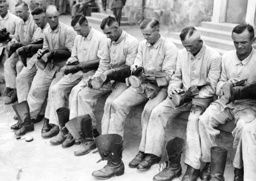 Cleaning boots at a unit of the Wehrmacht, 1935