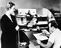 Phyllis Brooks, Tex Avery and the cartoon character Oswald, 1934
