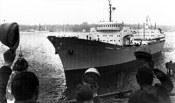 Frachter 'Otto Hahn', lâäžuft von Kiel zur Å¡bergabefahrt in die Ostsee aus