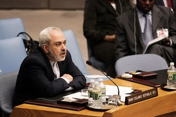 Javard Zarif, Iran's ambassador to the United Nations, at the United Nations headquarters in New York