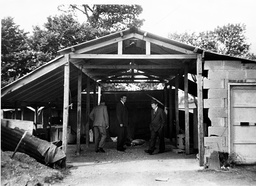 Leatherslade Farm - The Shed Where The Train Robbers Hid The Lorry. The Great Train Robbery - A Ii2.6 Million Train Robbery Committed On 8 August 1963 At Bridego Railway Bridge Ledburn Near Mentmore In Buckinghamshire England. The Gang Of Train Robbe